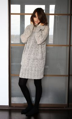 Oversized turtleneck sweater hand knitted long sweater loose knit ...
