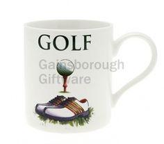 Golf Fine China Oxford Mug Boxed @ gainsboroughgiftware.com
