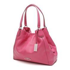 d5de6785cb05 Pre-Owned Coach Ruby Pink Leather Edie Hobo Bag ( 200) ❤ liked on