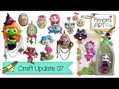 [Fimora Art] ... Craft Update Nr. 07 ... Polymer Clay Creations - YouTube