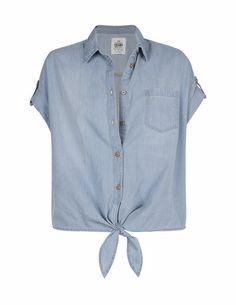 SB- Camisa denim anudada
