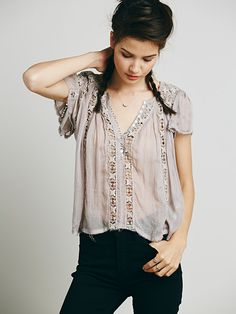 Free People FP ONE Flower Chain Top at Free People Clothing Boutique