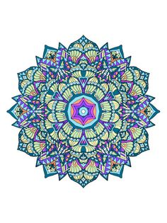 More Detailed Mandala Design From My Coloring Book Thats Available Here