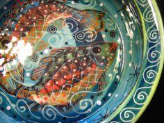 Deep Fish Soup Bowl via Pam Marwede at Etsy.