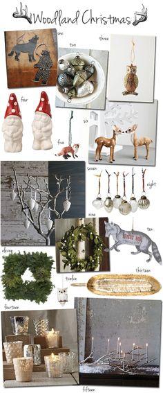christmas ornaments, gnome, acorn, bear, owl, deer, fox, wreath, platter, candles, lights, christmas, holiday, winter
