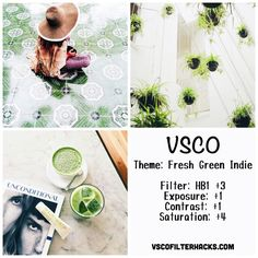 Fresh Green Indie Instagram Feed Using VSCO Filter HB1