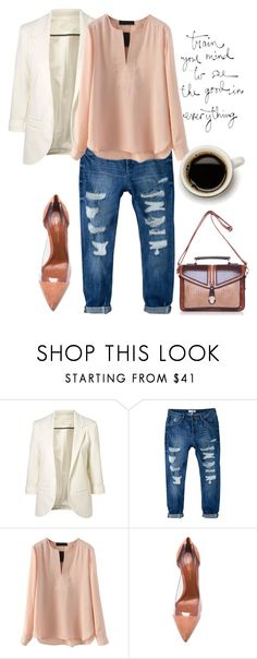 """""""ccc"""" by eiliana ❤ liked on Polyvore featuring MANGO, Gianvito Rossi, women's clothing, women, female, woman, misses and juniors"""