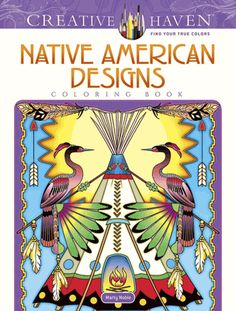 Dream catchers, kachina dolls, and animals of all kinds are celebrated in this original collection of images inspired by Native American art. Feathers, arrows, geometric patterns, and other motifs accent 31 illustrations.