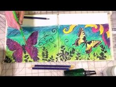 ▶ Painted Apron {Inktense pencils on Fabric!} - YouTube