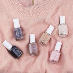 essie - the cashmere matte collection!  we ❤ this!  moncheribridals.com   #weddingnails #bridalnails