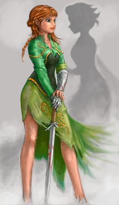 """Darker alternate version of Anna from """"Frozen"""". Imagine, say, that she decided just exiling Hans wasn't enough. Disney Princess Warriors, Disney Princess Art, Disney Nerd, Warrior Princess, Disney Fan Art, Disney Girls, Disney Love, Disney Magic, Disney Frozen"""