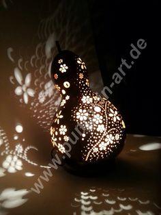 Kürbislampe/Gourdlight Flowergarden/Blumenbeet