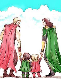 Thor & Loki    Cr: mae