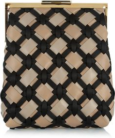 Marni Woven Leather and Satin Clutch @Lyst
