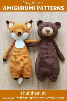 fox bear amigurumi patterns #littlebearcrochets #amigurumi #crochet #diy