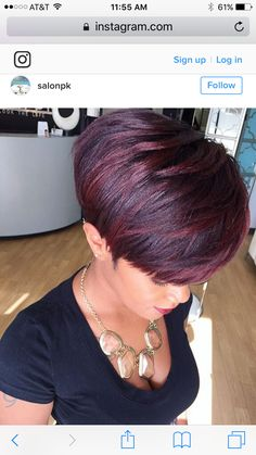 Hairstyles For Men 20 Charming Short Hair Color Ideas - NiceStyles.Hairstyles For Men 20 Charming Short Hair Color Ideas - NiceStyles Curly Hair Styles, Natural Hair Styles, Sassy Hair, Haircut And Color, Pixie Hairstyles, Pixie Haircuts, Latest Hairstyles, Red Pixie Haircut, Urban Hairstyles