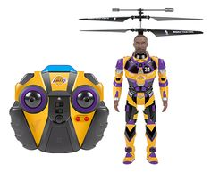 NBA Licensed Los Angeles Lakers Kobe Bryant Robojam 3.5CH IR RC Helicopter - $39.95