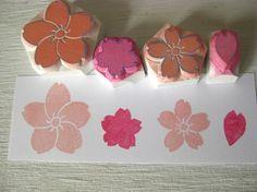 Sakura stamp set - cherry blossoms