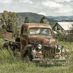 Old Faithful Truck Canvas Print / Canvas Art by Terry Rowe
