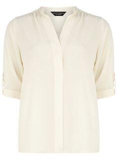 Ivory roll sleeve shirt