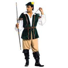 Prince des Voleurs code produit : 943-055 7 pièces : Veste, Chemise, Pantalon, Ceinture, 2 Sur-bottes et Coiffe.  Taille(s) : 54.