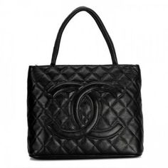 Chanel Cambon Lambskin Leather Tote Bag 1804 Black