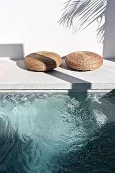 outdoor fresh modern landscape design and architecture white exterior pool mon palmer Interior Exterior, Exterior Design, Interior Livingroom, Interior Plants, Interior Modern, Luxury Interior, Kitchen Interior, Room Interior, Outdoor Spaces
