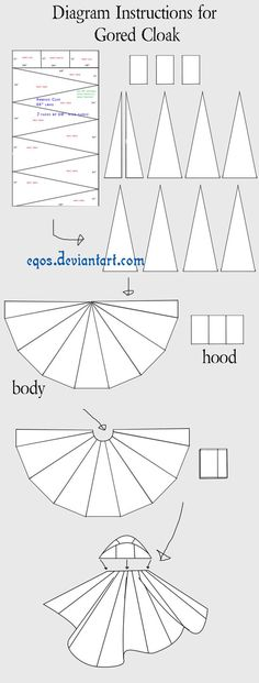 Perhaps you'd prefer to make your own cloak? Here's how. Thanks, eqos!  Instructions for Gored Cloak by ~eqos on deviantART