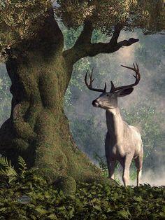 White Stag Digital Art by Daniel Eskridge - The White Stag Fine Art ...