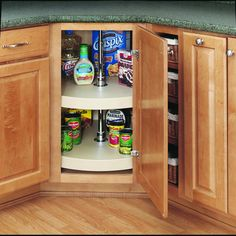"Rev-A-Shelf 6072-28-52 RAS Polymer 28"" Full Circle Lazy Susan 2 Shelf Set"