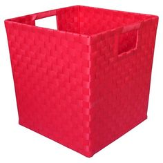 Woven Storage Bin Small Red - Pillowfort™ : Target
