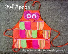 make an owl apron for halloween or pretend play