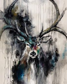 'Poise'by Katy Jade Dobson / Oil painting / Stag