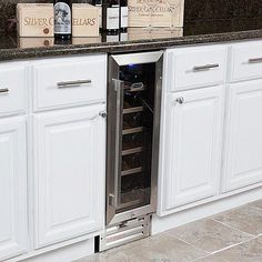 The Whynter Built-In Wine Refrigerator offers premium quality and innovative design to meet recreational needs. It comes with powerful compressor and advanced wine storage function. It features an exclusive stainless steel trimmed door. Built In Wine Refrigerator, Refrigerator Cabinet, Wine Fridge, Conservation, Tabletop, Miele Coffee Machine, Built In Wine Cooler, Wine Collection, In Vino Veritas