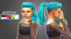 Shaved Ponytail ♥ New Hair Mesh! • Disabled for random. • Recoloring/Retexturing/Converting allowed (Please give me credit and tag me!) • Comes in base game colors. • Female Teen - Elder TOU ♥ • Do...