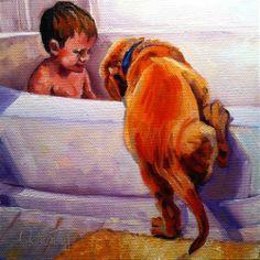 """THE INTRUDER"" - Original Fine Art for Sale - © Kristy Tracy"