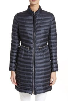 New Authentic 2017 Moncler Agatelon Quilted Puffer Coat Nwt Navy