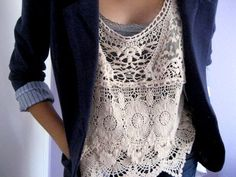 Blazer over lace