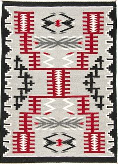 Rugs in Traditional Colors Storm - Modern Native American Rugs, Native American Patterns, American Indian Art, Native American Beading, Navajo Weaving, Navajo Rugs, Hand Weaving, Southwestern Quilts, Southwest Art