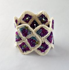 crochet cuff bracelet--an afghan for the wrist