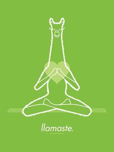 Llamaste - Untuck Design #illustration #untuckillustrations #llamaste #llama #yoga