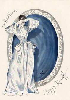#FashionIllustration by René Gruau, 1945, Maggy Rouff Fashion Design. iL #Gruau