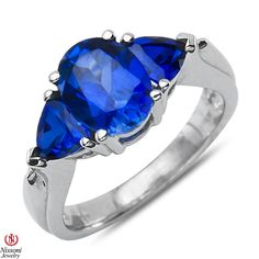 Ebay NissoniJewelry presents - Created Sapphire 3 Stone Fashion Ring 10k White Gold    Model Number:FR7949-W0CSA    http://www.ebay.com/itm/Created-Sapphire-3-Stone-Fashion-Ring-10k-White-Gold/321612067986