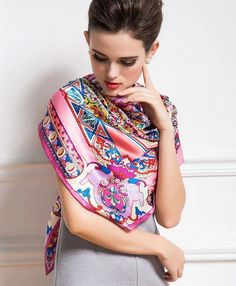 #flowers #scarf  Discover more==>http://goo.gl/lfDHcE High quality and deluxe silk product, all at @casasilk