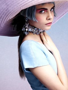 Cara Delevingne's short blue hair for Chanel - more on Anything-Blue.com