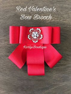 Excited to share the latest addition to my #etsy shop: Bow Brooch #jewelry #brooch #red #redlover #womansstyle