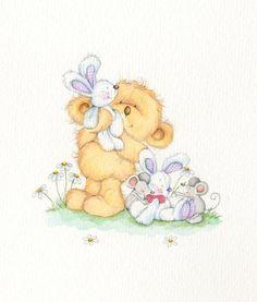 Cute illustrations - Zoe Connery Bear bunny mouse by Zoe Connery Tatty Teddy, Cute Images, Cute Pictures, Teddy Bear Pictures, Bear Graphic, Bear Illustration, Baby Clip Art, Artist Portfolio, Cute Teddy Bears
