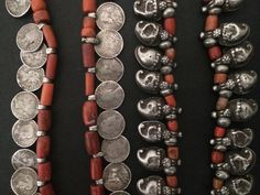 South Indian coral and silver