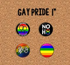"Gay Pride - 1"" Pinback Buttons"