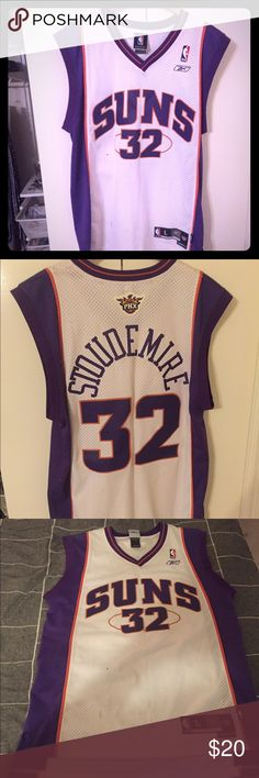 Phoenix Suns Swingman Jersey A lightly worn Amare Stoudemire swingman jersey. There are two very small stains on the front (soda?) that can likely be gotten out relatively easy. This jersey is long! Reebok Other